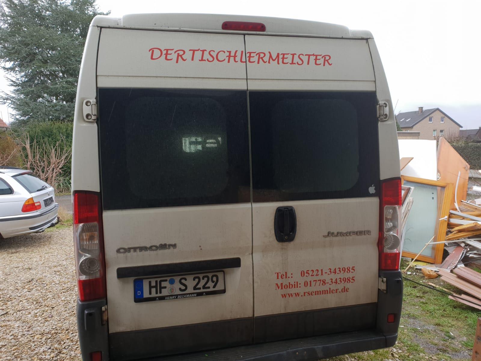 Folienbeschriftung Transporter