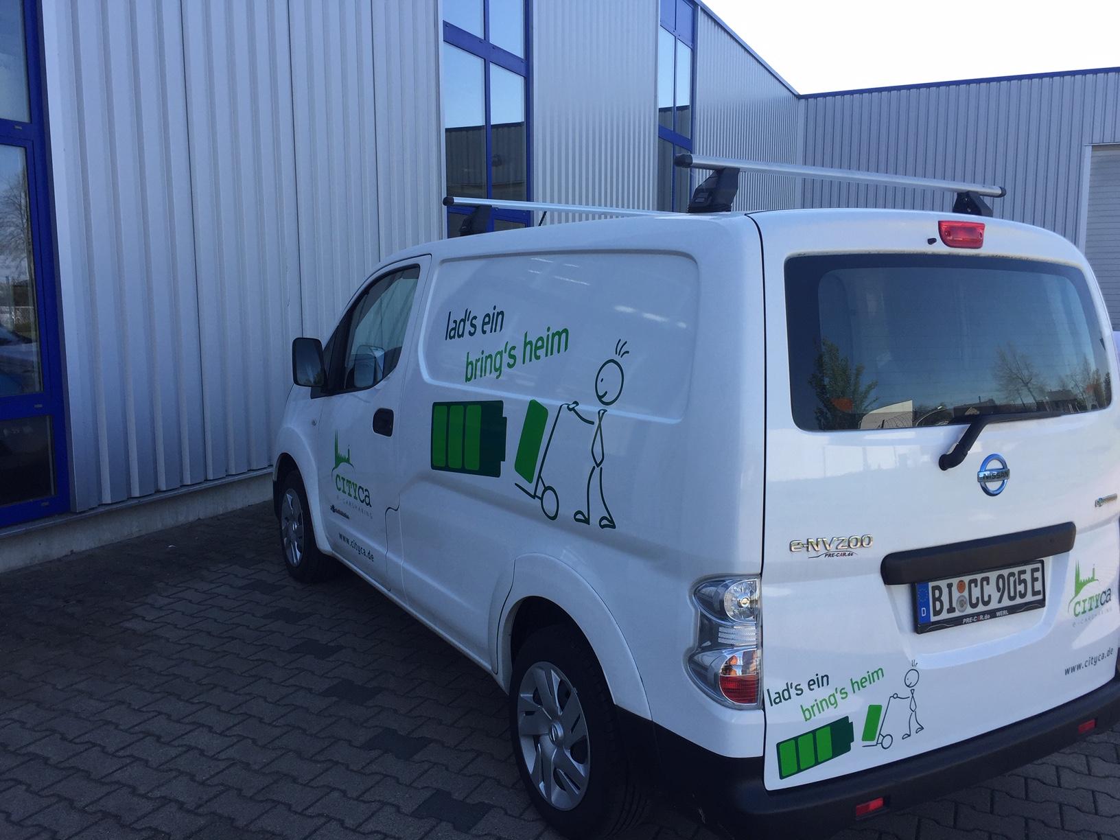 Folienbeschriftung E-Transporter