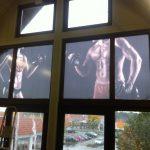 4m² Digitaldruck auf transparenter Folie als Sonnenschutz